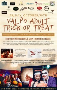 ADULT TRICK OR TREAT id Downtown Valpo