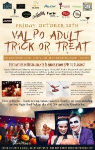 ADULT TRICK OR TREAT id Downtown Valpo