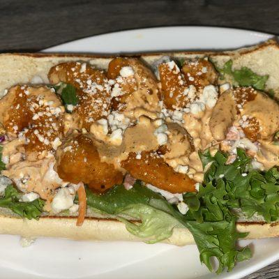 Sandwich on a plate.