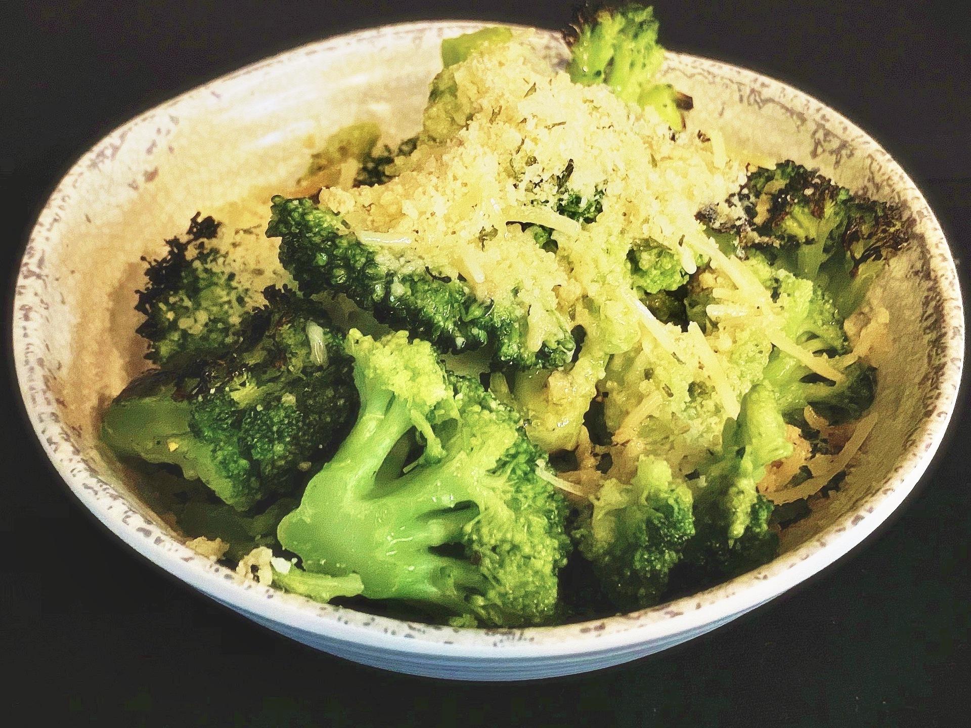 Broccoli in a bowl.